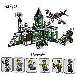 TTGE 627pcs kleine Partikel Bausteine (Militärisches Kommando-Angriffsmodell) Lernspielzeug für Kinder