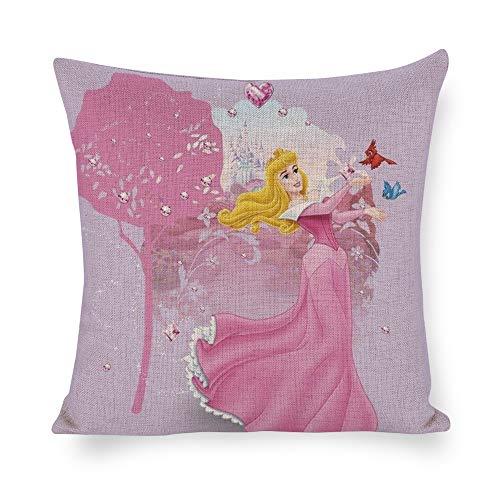 Aurora Kissen (Mucuum DIY Custom Cotton Linen Flachs Taille Kissen Dekorative Home Decor 45 cm x 45 cm 18x18 Schöne Prinzessin Aurora)