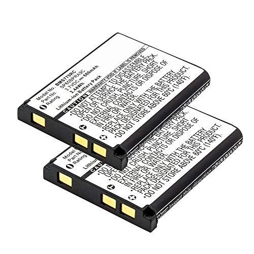 subtel 2X Akku kompatibel mit Panasonic KX-TCA285 KX-TCA385 KX-UDT121 KX-UDT131 Sony Bluetooth Laser Mouse VGP-BMS77, 660mAh 4-268-590-02,SP60,SP60BPRA9C,N4FUYYYY0046,N4FUYYYY0047 Ersatzakku Batterie