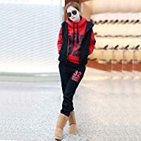 modaspirit Stylish and Comfortable Triple Tracksuit Set Red