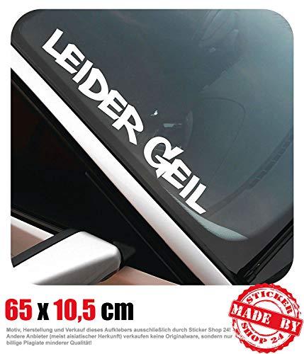 Leider Geil Frontscheibenaufkleber 65,0 cm x 10,5 cm Auto Aufkleber JDM OEM Tuning Sticker Decal 30 Farben zur Auswahl