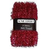 Extra lange 15Meter Lametta von '® in Rot, Silber oder Gold, Weihnachts-Dekoration 1 RED