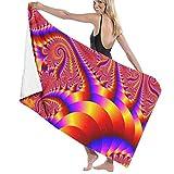 Gebrb Toallas de baño,Toalla de Playa,Manta de Playa,Camping Towel, Gym Towel, Sports Towel, Swimming Towel 31'x51' - Red Psychedelic Trippy Art Print