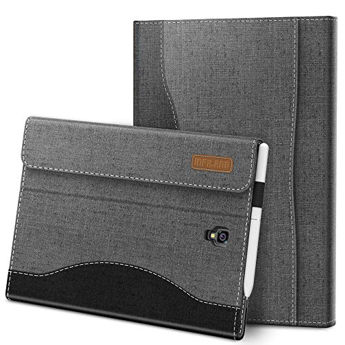 Infiland Samsung Galaxy Tab S4 10.5 Hülle Case, Vordere Unterstützung Schutzhülle Tasche Compatible with Galaxy Tab S4 10.5 (SM-T830/T835) 2018(mit Auto Schlaf/Wach Funktion),Grau