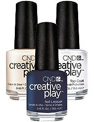 CND Creative Play Navy Brat Nr. 435 13,5 ml mit Creative Play Base Coat 13,5 ml und Top Coat 13,5 ml, 1er Pack (1 x 0.041 l)