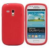 Custodia cover in silicone per Samsung Galaxy S3 III mini i9300 Rosso