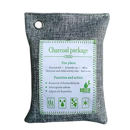 Wakauto 1 sacchetto purificatore d'aria oda assorbitore ecologico borse deodorante naturale per auto a casa grigio)
