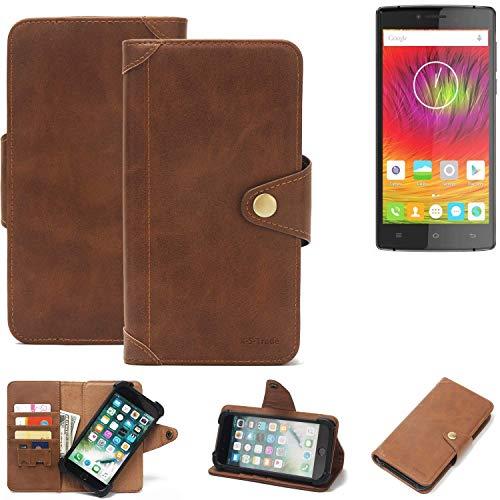K-S-Trade® Handy Hülle Für Cubot S600 Schutzhülle Walletcase Bookstyle Tasche Handyhülle Schutz Case Handytasche Wallet Flipcase Cover PU Braun (1x)