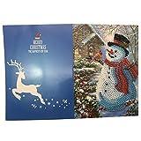 Berrose -Diamant Malerei Cartoon Mini Weihnachtsmann Fröhliche Weihnachten Papiergruß-Postkarten Handwerk DIY Kids Festival Greet Karten-Kinder Karten Frohe Grüße