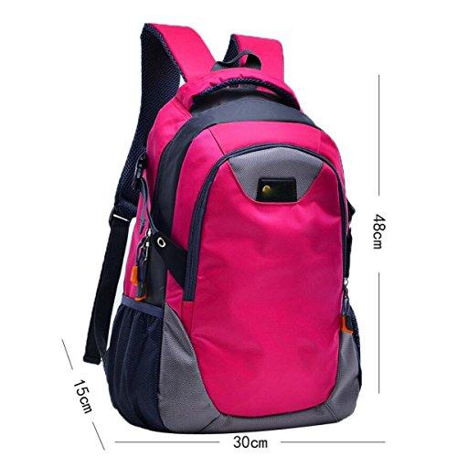Freizeit Outdoor Sporttasche Bergsteigen Rucksack Große Kapazität Wandertasche,Green Red