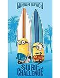 Minions–Handtuch–Badetuch/Strandtuch, 70x 120cm–Surf