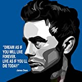 Canvas Wall Painting | James Dean Motivational Quotes Printed Wall Painting | Modern Wall Art Painting Home & Office Decor- 36 x 36 Inch