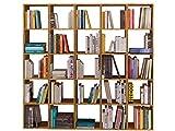 Loft24 Comfort 5x5 Regal-Set Bücherregal Regalwand Bücherwand Aktenregal Büroregal Holzregal Eiche 180 x 30 x 174 cm