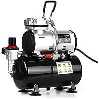 KKmoon - Compresor de aerógrafo profesional 1/6 HP sin aceite, silencioso, bomba