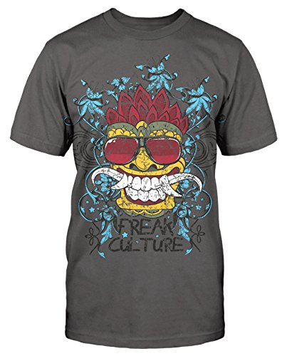 Freak Cult kult T-Shirt neu Fun Lustig Blogger Hipster Sunglass Comic Fashion Grau