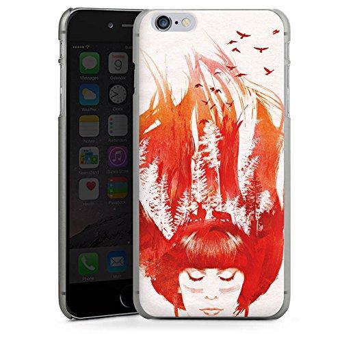Apple iPhone X Silikon Hülle Case Schutzhülle Mädchen Haare Natur Hard Case anthrazit-klar