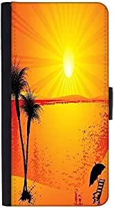 Snoogg Summer Backgrounddesigner Protective Flip Case Cover For Htc M9