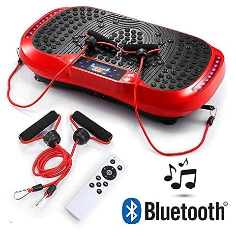 GENKI Vibration Power Plate Platform Bluetooth USB Whole Body Massage Slim Exercise Fitness Machine