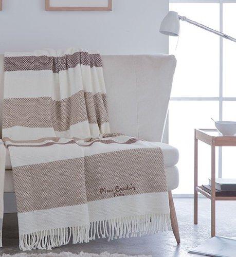 Pierre Cardin Designer Luxus Decke Samtweich 140 x 180 cm Schlafzimmer Wohnzimmer Tagesdecke Kuscheldecke Celeste PA902 (Decke Gucci)