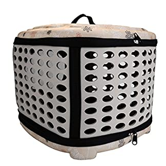 Mogoko Collapsible Hard Cover Sturdy Pet Travel Carrier, Portable Lightweight Pet Kennel Comfortable EVA Transporter Airline Approved Animal Crate Cage for Dogs Cats Rabbits Small Pets Mogoko Collapsible Hard Cover Sturdy Pet Travel Carrier, Portable Lightweight Pet Kennel Comfortable EVA Transporter Airline Approved Animal Crate Cage for Dogs Cats Rabbits Small Pets 51AsCW9luoL