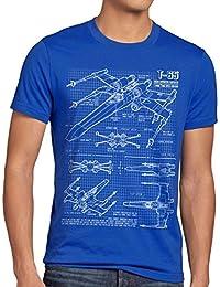 style3 X-Wing Herren T-Shirt blaupause t-65