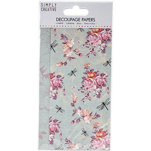 trimcraft-simply-creative-decoupage-paper-188-cm-x-35-cm-dragonfly-bloom-acrylic-multicoloured-4-pie