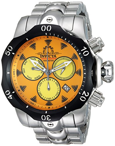 Invicta Men's 'Character Collection' Quartz Stainless Steel Casual Watch, Color:Silver-Toned (Model: 24997) image