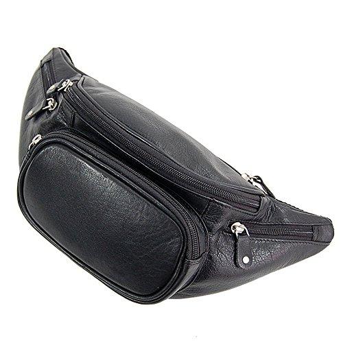 Branco Bauchtasche Leder Gürteltasche Hüfttasche Tasche Reisetasche GoBago (Schwarz) Schwarz