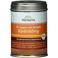 """Herbaria """"Kürbiskönig"""" Suppen und Eintopfgewürz, 1er Pack (1 x 90 g Dose) - Bio"""