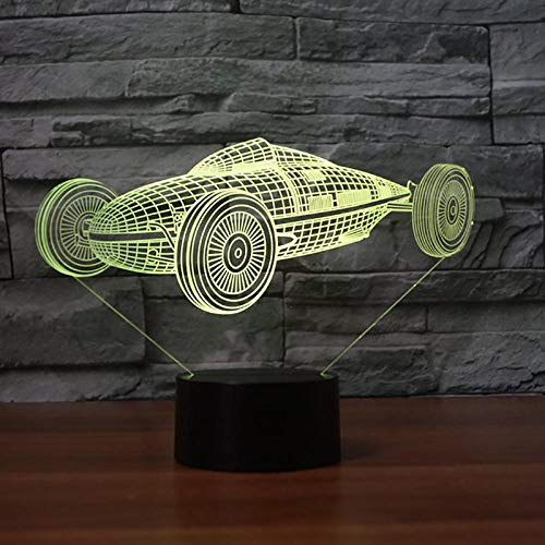 Carros Modelo Coche LED Luz Noche 3D Ilusión Luces