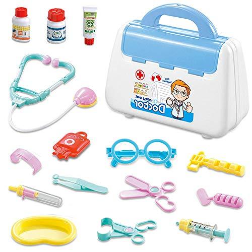 Volwco Doctor Kit Für Kinder, Rolle Spielen Medical Box Ärzte Kit, Medizinische Kit Lernspielzeug Rollenspiel Spielzeug Geschenke Kinder (Medizinische Spiele)