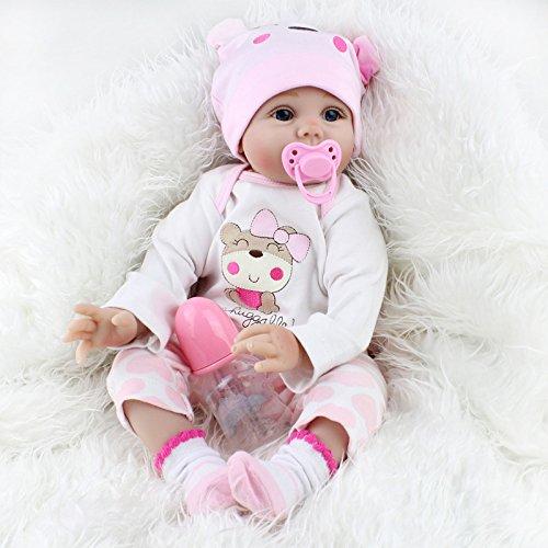 LnLyin Kunst Puppen Realistische Lebensechte Neugeborene Silikon Vinyl Reborn Geschenk Babypuppen Handgemachte Ganzkörper
