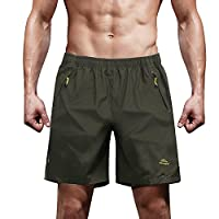 TACVASEN Men's Quick Dry Breathable Outdoor Sports Beach Shorts with Zipper Pockets 2