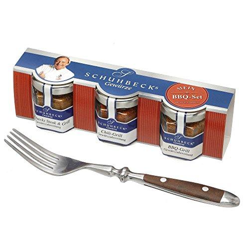 51AsF%2B85HyL - Schuhbecks Gewürze BBQ-Gewürz 3er Set Chili-, Steak- & BBQ-Gewürz, mini Grillgewürze für Fleisch, Fisch, Marinaden & Gemüse, ideal als Geschenk, Menge: 1 x 70 g