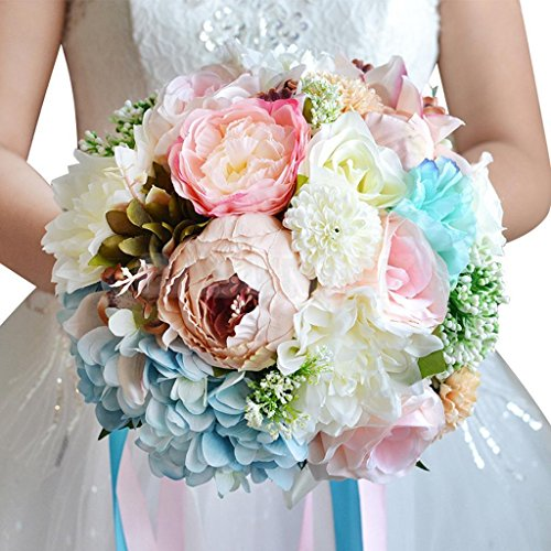 ELECTROPRIME® Artificial Flowers Simulation Flower Bride Bouquet Wedding Home Decor #3