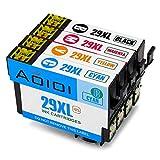 Aoioi 29XL Remplacer pour Epson 29 29XL Cartouches d'encre Compatible Avec Epson Expression Home XP-245 XP-445 XP-345 XP-235 XP-435 XP-442 XP-342 XP-247 XP-335 XP-352 XP-355