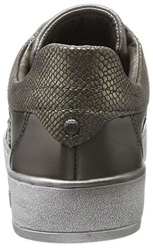 Bugatti Damen 422291015050 Sneaker Braun (Taupe/ Metallic)