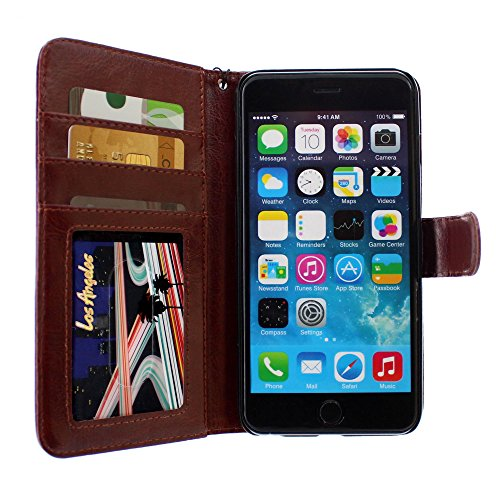Ultraflache weiche Schutzhülle APPLE IPHONE 6 PLUS 5.5 POUCES [Le X Premium] [Rot] von MUZZANO + STIFT und MICROFASERTUCH MUZZANO® GRATIS - Das ULTIMATIVE, ELEGANTE UND LANGLEBIGE Schutz-Case für Ihr  Braun