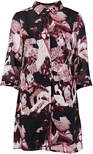 Marine Femme Charlie Mixed Print Shirt Dress Marine