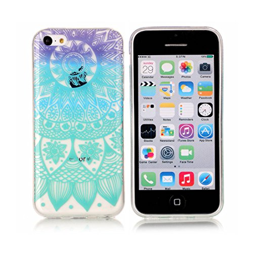 iPhone 5C Custodia,iPhone 5C copertura,piuttosto Custodia in TPU Gel Ultra sottile [Trasparente] Custodia protettiva in gomma flessibile case cover para for iPhone 5C colour 12