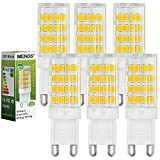6pz MENGS Lampada Dimmerabile LED 5W G9 51x2835 SMD LEDs (Bianca Calda 3000K, 360 angolo, 480lm, AC 220-240V, 15 x 48mm) Lampadine a risparmio energetico