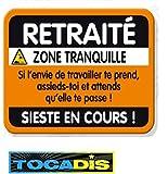 PLAQUE DE PORTE - CADEAU TOCADIS - RETRAITE...