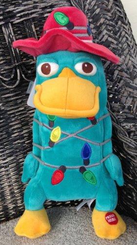 Disney bambola peluche di Perry l' ornitorinco luce di natale vacanza Nuovo - Natale Mouse Story