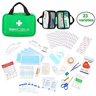 Oumers First Aid Medical Kit, All Purpose Emergency Survival Kit for Home Car Backpack Hiking Traveling Fishing Emergency Rescue | Safety & First Aid Supplies - Compact, 23 Varieties