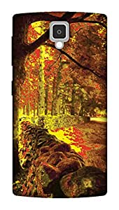 The Racoon Grip Forest hard plastic printed back case / cover for Lenovo A1000