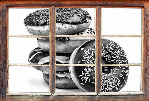 monocrome-sweet-donuts-windows-en-3d-regarder-taille-sticker-mural-ou-de-porte-62x42cm-stickers-mura