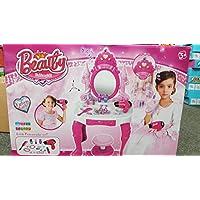 Girls Glamour Mirror Makeup Dressing Table Stool Playset Toy Vanity Light & Music Great ~Birthday Christmas XMAS Gift New