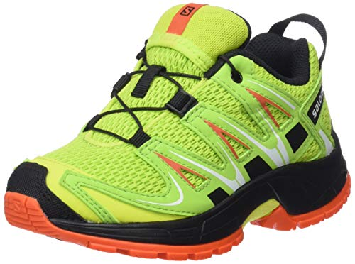 Salomon Kinder XA Pro 3D Trailrunning/Outdoor-Schuhe, Gelb/Grün (Lime Punch./Black/Scarlet Ibis), Gr. 28