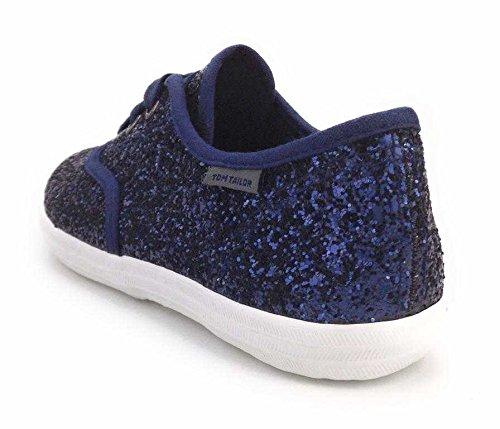 TOM TAILOR  2772803 8, Chaussures à lacets et coupe classique fille Bleu