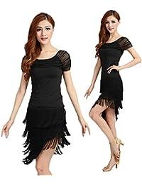 Vestido de danza latina con flequillos BellyQueen adc47e4f00506